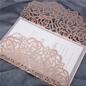 blush floral gate card invitation suite