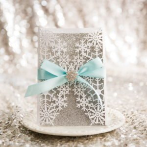 winter wonderland gate card invitation suite