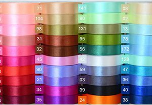 various ribbon colors