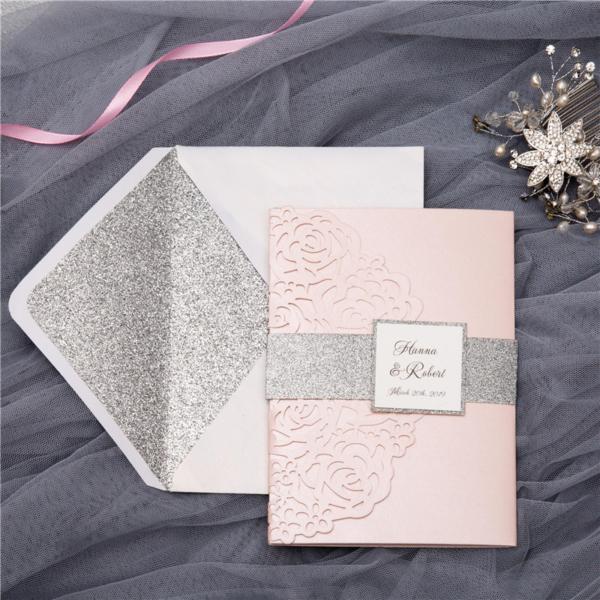 rose invitation suite